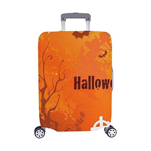 (Nur abdecken)Auf Halloween verwelkte Bäume verlassener Spandex-Staubschutz Trolley Protector case-Koffer Reisegepäck-Schutzkoffer-Abdeckung 28,5 X 20,5 Zoll