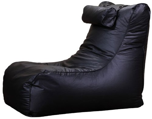 PuregadgetsC XXL Relax Leather Beanbag High Back Head Rest Chair Super Comfortable Fpr Watching TV