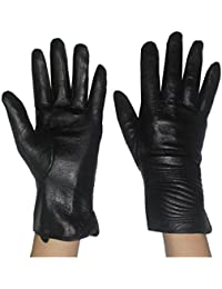Womens Warm & Weatherproof Insulated Leather Gloves with Interior Lining
