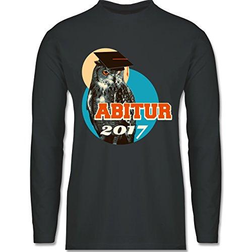 Abi & Abschluss - ABITUR 2017 Vintage Eule - Longsleeve / langärmeliges T-Shirt für Herren Anthrazit