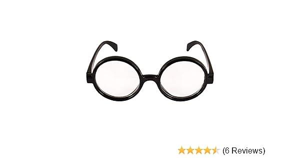 Kid/'s Harry Potter Black Round Glasses Hogwarts Wizard Geek Nerd Fancy Dress