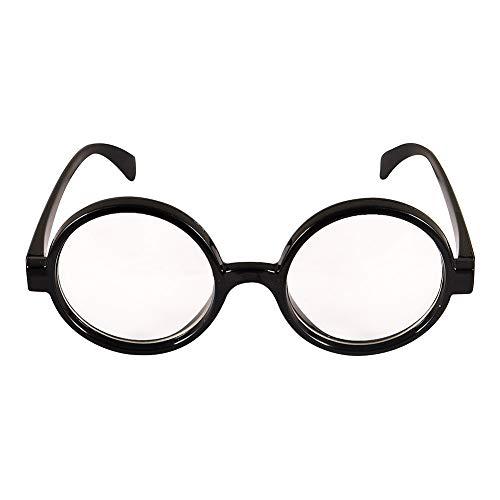 Erwachsene / Kinder Dick Schwarzes Gestell Zauberer Kostüm Brille (WELT BUCH WOCHE / BÜCHERTAG)