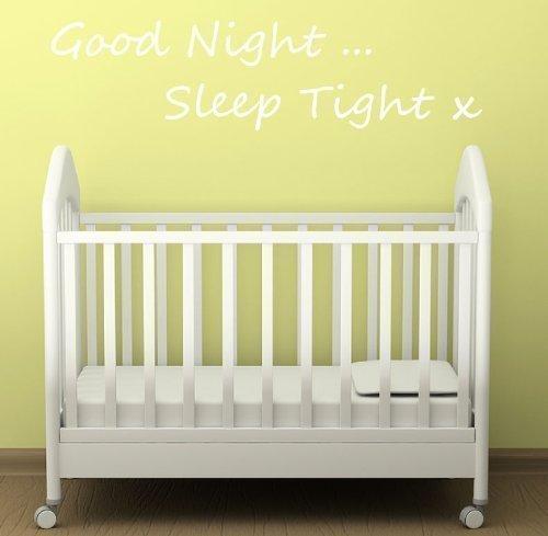 gut Nacht Schlaf gut Wandaufkleber Kinder Schlafzimmer Kinderzimmer Babyzimmer Zitat Aufkleber - Lila Glanz, Small (Gute Nacht Zitate)
