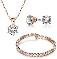ميستيج طقم مجوهرات بكريستال سواروفسكي للنساء - MSSE3072