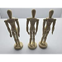 Janrax Set of 3-8 inch Artists Figure - 20cm Male Manikin Wooden Art Mannequin