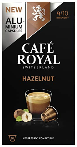 Café Royal Hazelnut Flavoured Edition 50 Nespresso kompatible Kapseln (aus Aluminium, Intensität 4/10) (5 x 10 Kaffeekapseln)