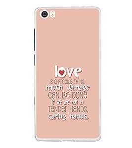 PrintVisa Designer Back Case Cover for Xiaomi Mi 5 :: Redmi Mi5 (Love Heart Fragile Damage Tender Caring Hands)