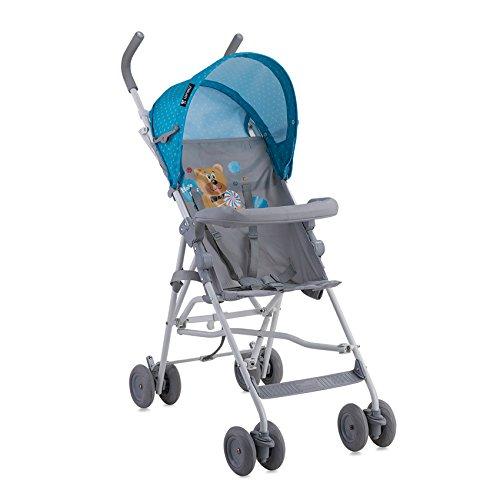 Lorelli Light- Carrito de bebé, unisex, color azul y gris