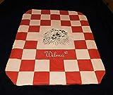 LunaChild Hundedecke Pomeranian 1 beig rot Hundebett Sofadecke Hunde Decke Größe S M L oder XL in 14 Farben erhältlich