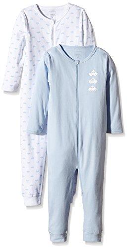 NAME IT Jungen Einteiliger Schlafanzug NITNIGHTSUIT 2P ZIP M B NOOS, 2er Pack, Gr. 98, Mehrfarbig (Cashmere Blue)