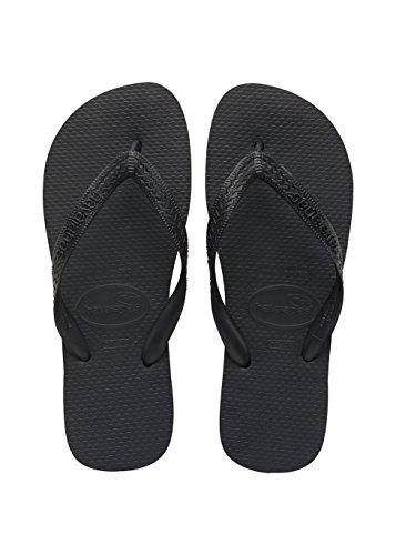 Havaianas Herren/Damen Flip Flops Top Grösse 43/44 EU ( 41/42 Brazilian) Schwarz...