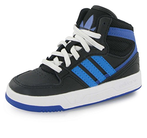 adidas Originals Court Attitude EI I Chaussures Mode Sneakers Enfant Cuir Noir Bleu