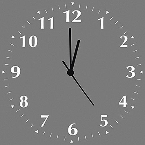 Artland Qualitätsuhren I Funk Wanduhr Designer Uhr auf Alu Funkuhr Größe: 30 x 30 cm Farbe Grau D4VX