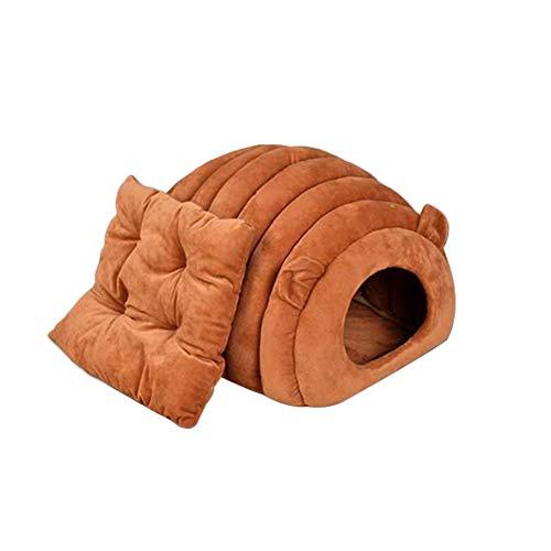 Ruier-hui Katzenhöhle & Hundebett, Hundekörbchen | Perfekte Kuschelhöhle für Kleine Hunde & Katzen Warm in Winter