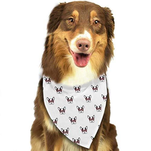 Hipiyoled Französische Bulldogge Herz Sonnenbrillen Muster Stilvolle Haustier Hund Katze Bandana Halstuch Halstuch Schal