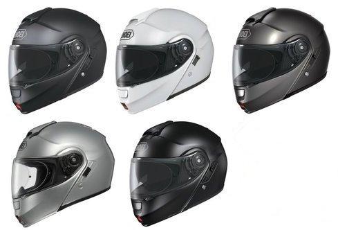 SHOEI NEOTEC FLIP FRONT MOTORCYCLE HELMET MODULAR MOTORBIKE TOURING INNER VISOR J&S (SMALL, GLOSS BLACK)