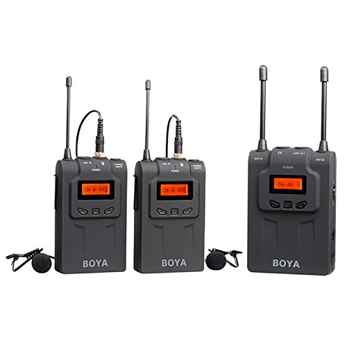 boya-by-wm8-pro-clip-on-uhf-doppio-canale-mic-senza-fili-del-microfono-audio-system-video-recorder-2