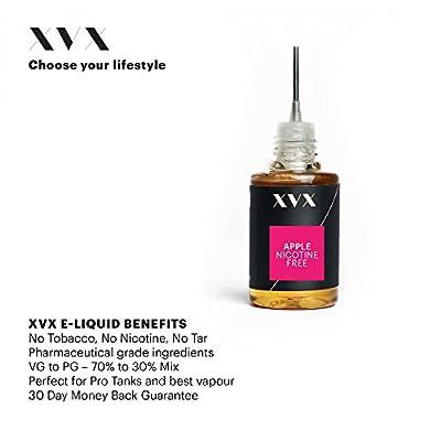 XVX E-Liquid \ Apfel Geschmack \ Elektronisches Liquid Für E-Zigarette \ Elektronische Shisha Liquid \ 10ml Flasche \ Nadelspitze \ Präzise Befüllung \ Wähle Deinen Lifestyle \ Neu Für 2016 \ Digitaler Rauch \ Nikotinfrei \ Tabakfrei von XVX