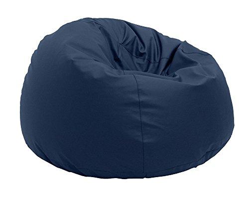 Pouf Beanbag Pamplemousse Polyester imperméable pour extérieur XL 95 x 65 cm Bleu Marine