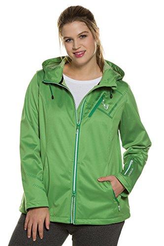 Ulla Popken Femme Grandes tailles Veste softshell légère 708731 vert pomme