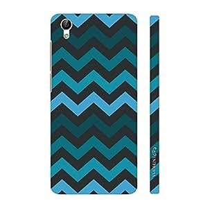 Enthopia Designer Hardshell Case Chevron Blues Back Cover for Vivo Y51L