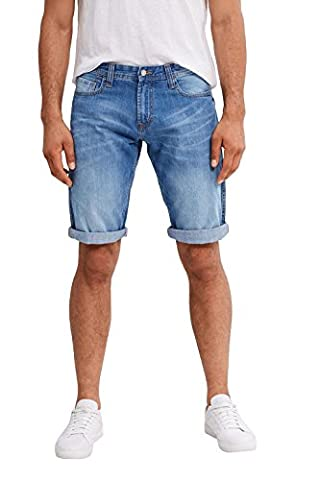edc by ESPRIT Herren Shorts 047CC2C001, Blau (Blue Medium Wash 902), (Herstellergröße: 30)