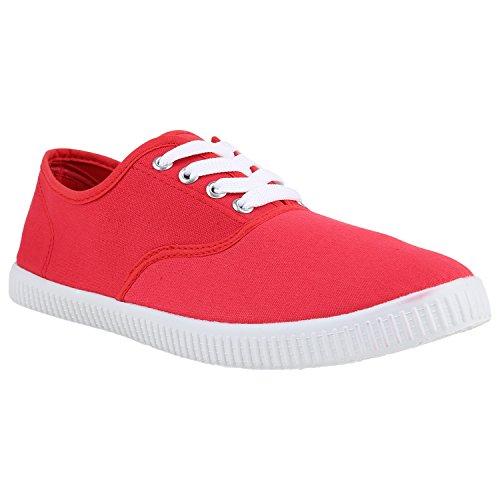 Sneaker Da Donna Sneaker In Tessuto Modello Basic Scarpe Basse Stampa Animalier Per Il Tempo Libero Sneakers Lace-up Rosso Flandell