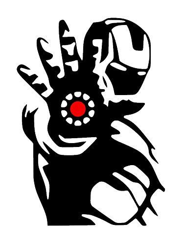 Iron Man Die Ein Marvel Hero Avengers Team Aufkleber Wanddekor Kunstwand DIY Wohnkultur Kunst (Über Iron Man Anzug)