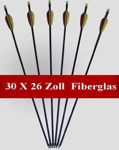 30 Flèches / Longueur: 26 pouces / Fabriqué à partir de fibre de verre