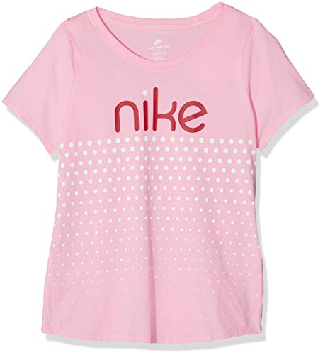 Nike Mädchen Scoop Dot T-Shirt, Pink, L