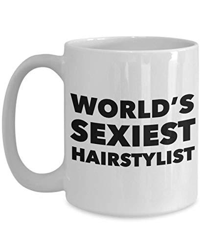 Taza de café de cerámica del regalo de la taza del peluquero más atractivo del mundo