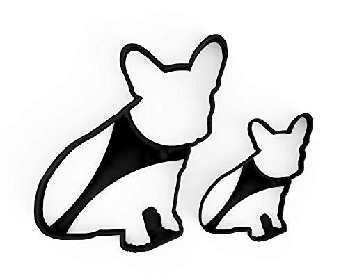 3DREAMS 2er Ausstecher Set French Bulldog │ Frenchy Ausstechform │ Keksausstecher Französische Bulldogge Hund │ + Gratis 2 Rezepte │ aus Bio Kunststoff │ Made in Germany │ ideal als Geschenk │ Bully