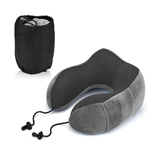 YHNUJMIK U-förmiger weicher Memory-Schaum Ultraleichtes Nackentraktionsgerät zur Unterstützung der zervikalen Schmerzlinderung,Gray - Flugzeug-head-unterstützung