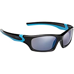Alpina Kinder Sonnenbrille FLEXXY TEEN, black-cyan, A8496331