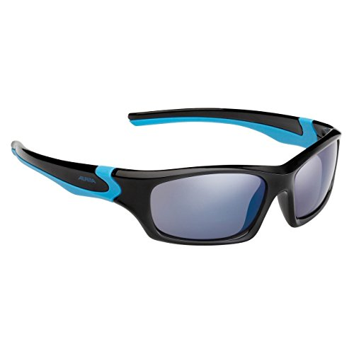 Alpina Kinder Sonnenbrille FLEXXY TEEN, black-cyan, A8496331