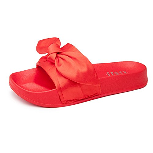 Sandales D'été Femmes Nouveau Simple Cool Pantoufles Mode Sauvage Pantoufles Femmes,White(37) Red(41)