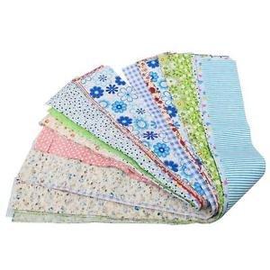 Alcoa Prime 50pcs 50x5cm Floral Print Dressmaking Fabric DIY Sewing Bedding Cloth Craft