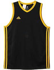 adidas Y Commander J - Camiseta para niño, color negro / amarillo, talla 128