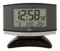 Acctim 71207 Acura Smartlite® Radio Controlled Alarm Clock, Black