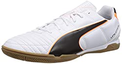 Puma Herren Universal II IT Hallenschuhe, Weiß (white-black-fluo flash orange 02), 39 EU