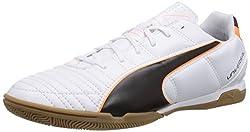 Puma Herren Universal II IT Hallenschuhe Weiß (white-black-fluo flash orange 02) 39 EU