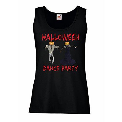 lepni.me Damen Tank-Top Coole Outfits Halloween Tanz Party Veranstaltungen Kostümideen (Medium Schwarz Mehrfarben)