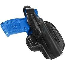 Pistolera Bodyguard cruzada en la cintura, de cuero, para FN FNS-9 FNS-40