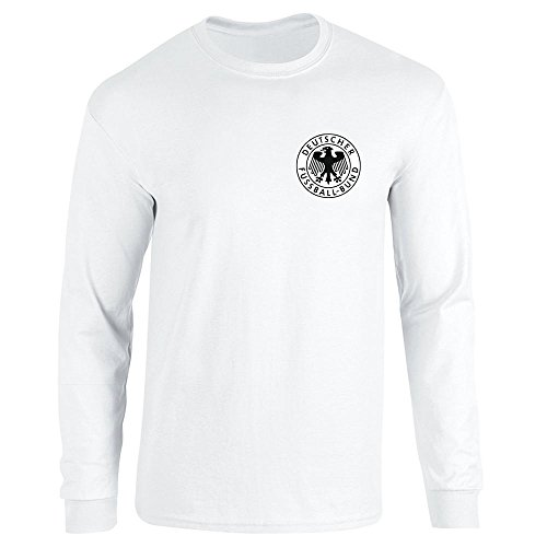 68b5ed665b Pop Threads Germany Soccer Retro National Team White XL Long Sleeve T-Shirt  by