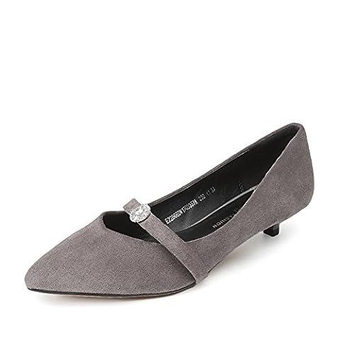 ladies shoes,coupe-bas chaussures minces a fait-B Longueur du pied=22.3CM(8.8Inch)