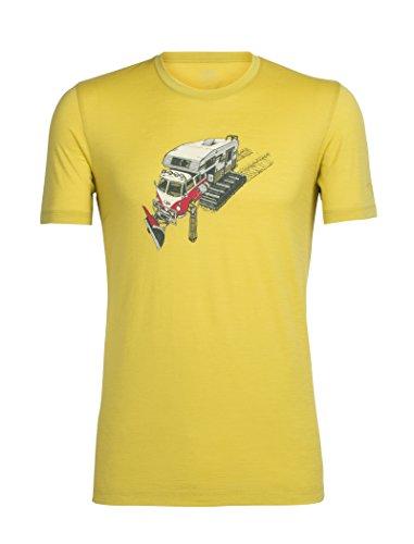 Icebreaker Herren Tech Lite Short Sleeve Crewe Snow Bug T-Shirt, Sulfur, XL - Bug Gelben T-shirt
