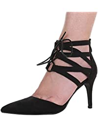 Damen Schuhe, 1251-GL, PUMPS HIGH HEELS SANDALETTEN