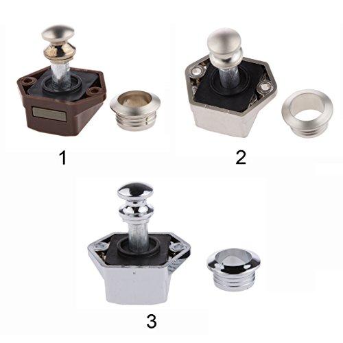 Preisvergleich Produktbild Gazechimp 20mm Aktenschrank Schreibtischschublade Schrank Vorreiberverschluß Schrankschloss - Farbe 3 Silber