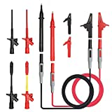 12-in-1 Multimeter Test kabel set, LIUMY Elektronisch Messleitungskabel/Multimeter ZubehÃr Kit/Universal-Multimeter Kabeltest Lead Kit mit Sonde-Verlängerungen Prüfspitzen Mini Krokodilklemme