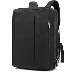 CoolBELL15,6 Zoll umwandelbar Laptop Tasche / Rucksack Messenger Bag Oxford Gewebe Umhängetasche Backpack Mehrzweck Aktentasche für Laptop / Macbook / Tablet / Herren / Damen(Schwarz)